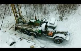 Бурение зимой. Геологические изыскания. Народная скважина.
